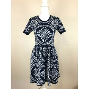 Romeo & Juliet Couture Blue sweater dress paisley